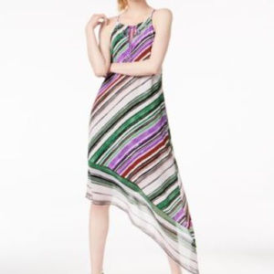 BAR III Women's Multistripe Sleeveless Dress